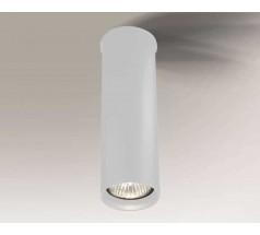 Lampa natynkowa Shilo ARIDA GU10 1x8W tuba biała czarna