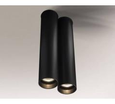 Lampa natynkowa Shilo ARIDA GU10 2x8W tuba biała czarna