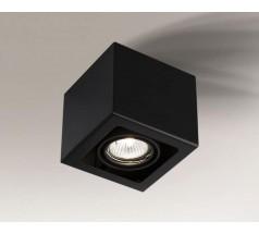 Lampa natynkowa Shilo AWA GU10 1x8W kwadrat biała czarna
