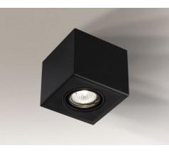 Lampa natynkowa Shilo AWA H GU10 1x8W kwadrat biała czarna