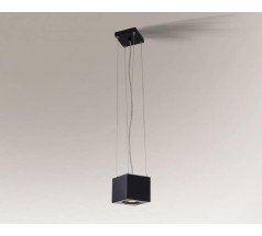 Lampa wisząca Shilo AWA H GX53 1x10W tuba biała czarna