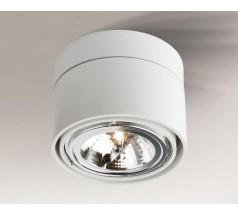 Lampa natynkowa Shilo HIMI GU10/G53 1x15W tuba biała czarna