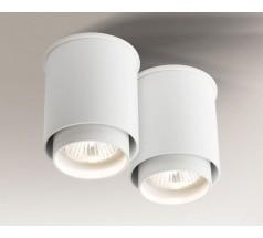 Lampa natynkowa Shilo IGA GU10 2x8W tuba biała czarna