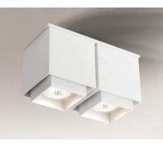Lampa natynkowa Shilo KAZO GU10 2x8W kwadrat biała czarna