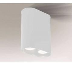 Lampa natynkowa Shilo INAGI GU10 2x8W tuba biała czarna
