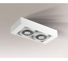 Lampa natynkowa Shilo KOGA GU10/G53 2x15W prostokątna biała czarna