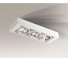 Lampa natynkowa Shilo KOGA GU10/G53 3x15W prostokątna biała czarna