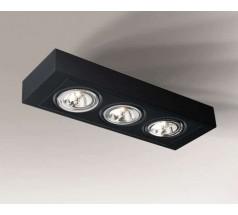Lampa natynkowa Shilo KOGA H GU10/G53 3x15W prostokątna biała czarna