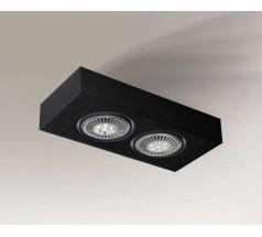 Lampa natynkowa Shilo KOGA H GU10/G53 2x15W prostokątna biała czarna