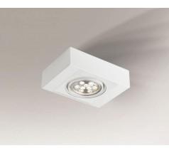 Lampa natynkowa Shilo KOGA H GU10/G53 1x15W prostokątna biała czarna