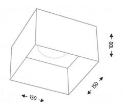 Lampa natynkowa Shilo KONAN GX53 1x10W kwadrat biała czarna