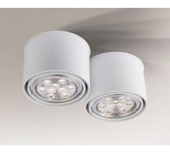 Lampa natynkowa Shilo MIKI GU10/G53 2x15W tuba biała czarna