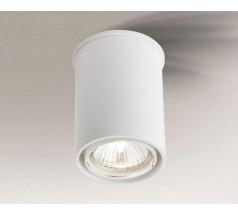 Lampa natynkowa Shilo OSAKA GU10 1x8W tuba biała czarna