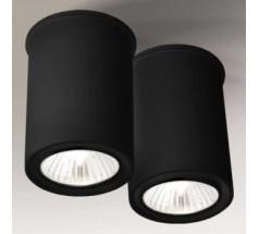 Lampa natynkowa Shilo OSAKA GU10 2x8W tuba biała czarna