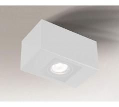 Lampa natynkowa Shilo SETO GU10 1x8W prostokątna biała czarna