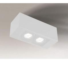 Lampa natynkowa Shilo SETO GU10 2x8W prostokątna biała czarna