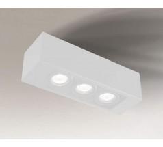 Lampa natynkowa Shilo SETO GU10 3x8W prostokątna biała czarna