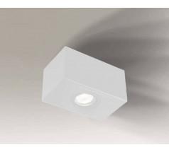 Lampa natynkowa Shilo SETO H GU10 1x8W prostokątna biała czarna