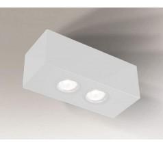 Lampa natynkowa Shilo SETO H GU10 2x8W prostokątna biała czarna