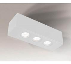 Lampa natynkowa Shilo SETO H GU10 3x8W prostokątna biała czarna