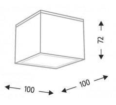 Plafoniera SUWA GX53 1x10W kwadrat biała czarna