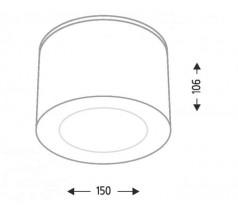 Lampa natynkowa Shilo TAMBA GU10/G53 1x15W tuba biała czarna