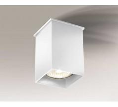 Lampa natynkowa Shilo TODA GU10 1x8W kwadrat biała czarna