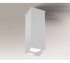 Lampa natynkowa Shilo TODA GU10 1x8W prostokątna biała czarna