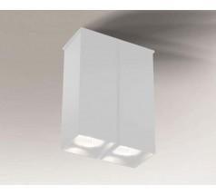 Lampa natynkowa Shilo TODA GU10 2x8W prostokątna biała czarna