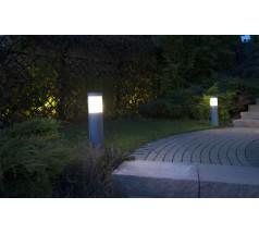 Ogrodowy Kinkiet Su-ma Elis E27 65 cm czarny srebrny