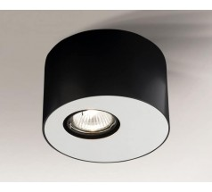 Lampa natynkowa Shilo TOKI GU10 1x8W tuba biała czarna