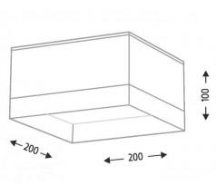 Lampa natynkowa Shilo TOSA GX53 1x10W kwadrat biała czarna