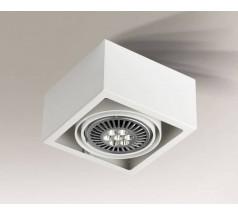 Lampa natynkowa Shilo UTO GU10 1x15W kwadrat biała czarna