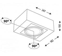 Lampa natynkowa Shilo UTO G53 1x15W kwadrat biała czarna