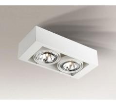 Lampa natynkowa Shilo UTO G53 2x15W prostokątna biała czarna