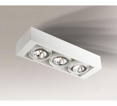 Lampa natynkowa Shilo UTO G53 3x15W prostokątna biała czarna
