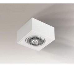 Lampa natynkowa Shilo UTO H GU10 1x15W kwadrat biała czarna