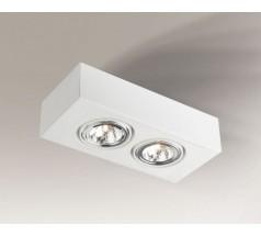 Lampa natynkowa Shilo UTO H G53 2x15W prostokątna biała czarna