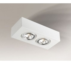 Lampa natynkowa Shilo UTO H GU10 2x15W prostokątna biała czarna