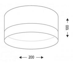 Plafoniera LED Shilo TOSA 1x15W 3000K 4000K tuba biała czarna