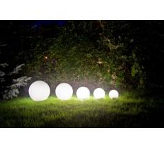 Lampa Ogrodowa na żarówkę Su-ma Alekule E27 okrągła biała