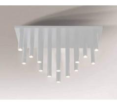 Lampa natynkowa Shilo YABU GU10 14x5W tuba biała czarna