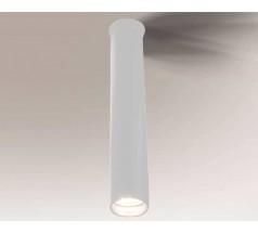 Lampa natynkowa Shilo YABU GU10 1x5W tuba biała czarna