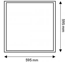 Antyolśnieniowy panel LED 60x60 OXYLED 34W UGR19