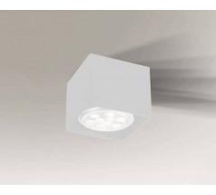 Lampa natynkowa Shilo YATOMI GU10 1x15W kwadrat biała czarna