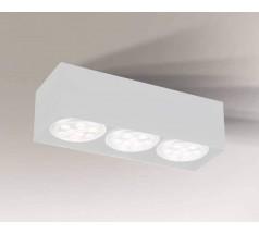 Lampa natynkowa Shilo YATOMI GU10 3x15W prostokątna biała czarna