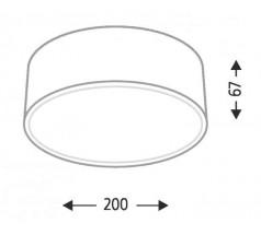 Lampa natynkowa Shilo ZAMA GX53 1x10W tuba biała czarna