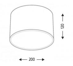 Lampa natynkowa Shilo ZAMA GX53 1x15W tuba biała czarna