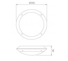 Plafoniera LED Intelight Cosmic CNBOP 9W 12W MT SA