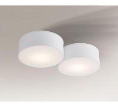 Lampa natynkowa Shilo ZAMA GX53 2x10W tuba biała czarna